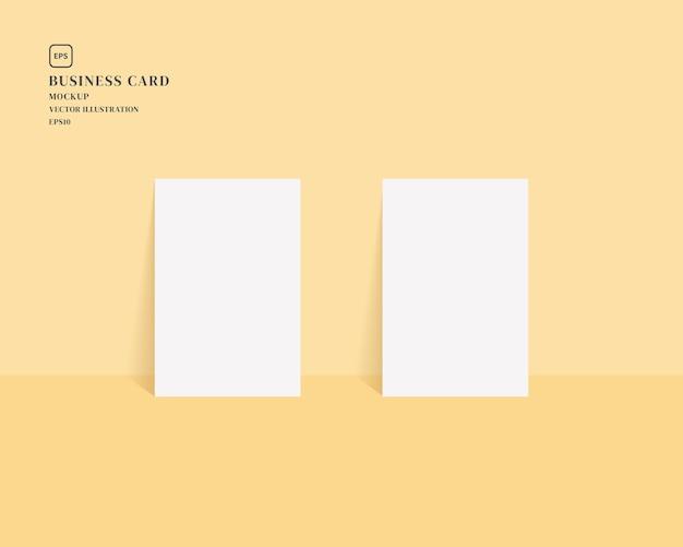 Иллюстрация пустых визитных карточек