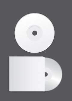 Blank cd over gray