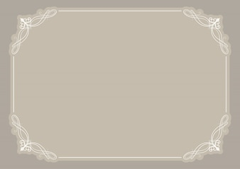 Blank certificate background with decorative frame