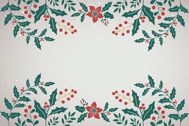 グリーティングカードの空白のクリスマスの背景