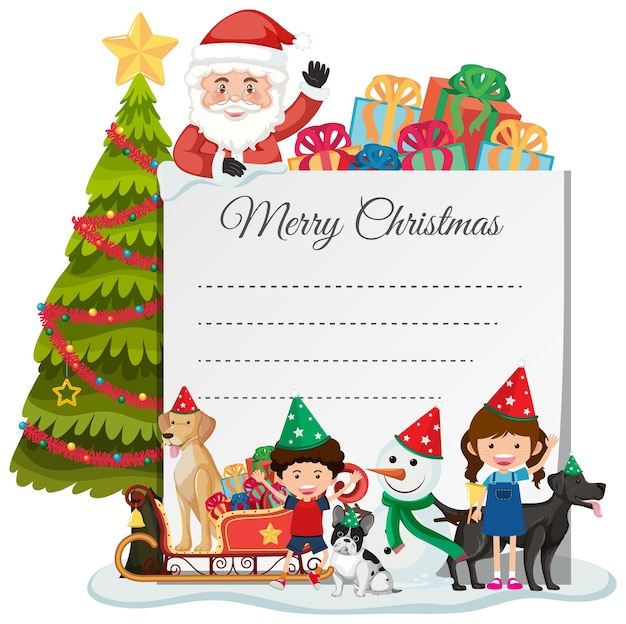 Blank christmas note template