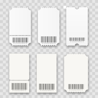 Blank cinema tickets isolated.