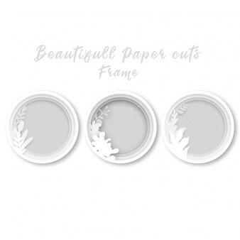 Blank circle flower frame template