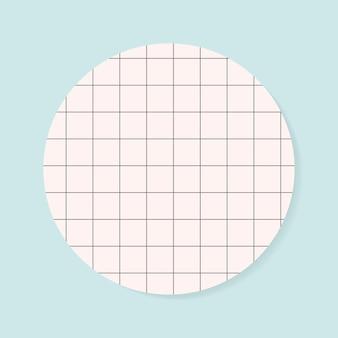 空白の円グリッドメモ帳グラフィック