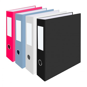 Blank closed office binders