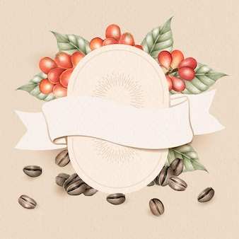 Blank coffee day card design