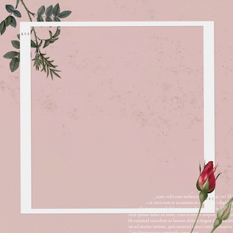 Blank collage photo frame template on pink background