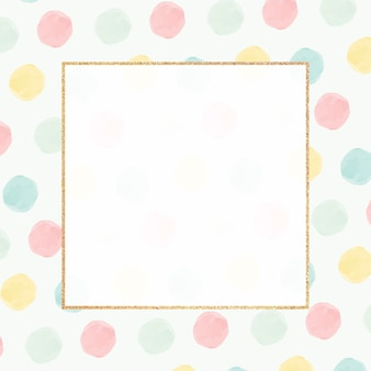 Blank colorful golden frame seamless pattern
