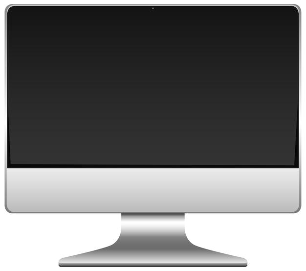 Icona del computer vuoto isolato su priorità bassa bianca
