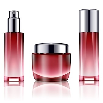 Blank cosmetic bottles