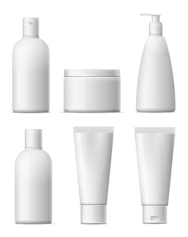 Blank cosmetic package set