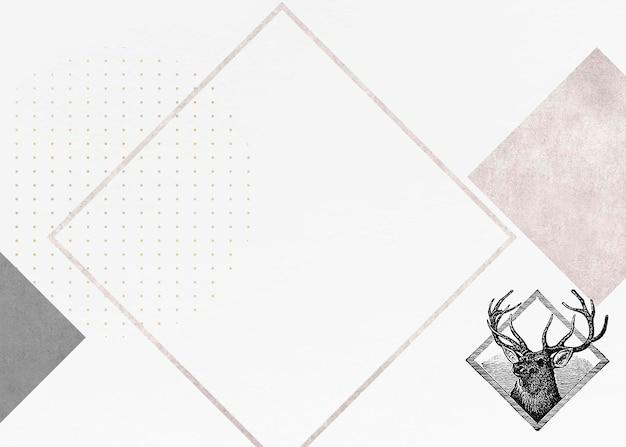 空白の鹿のひし形フレーム