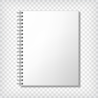 Blank detailed notebook