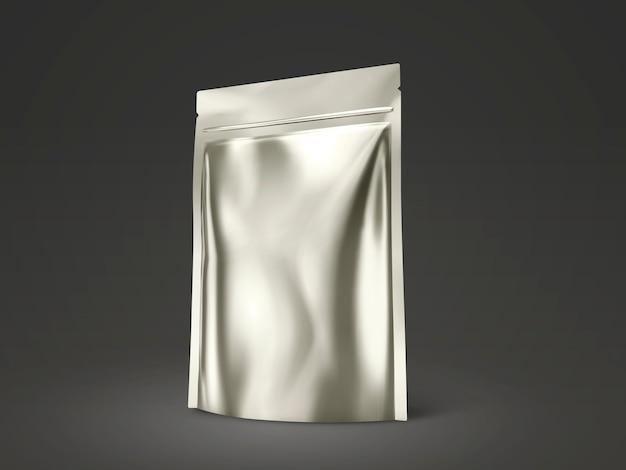 空白のdoyパック、イラストで使用するためのシャンパンゴールドパッケージ