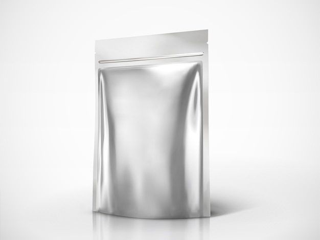 Blank doy pack , silver color package for  uses in  illustration