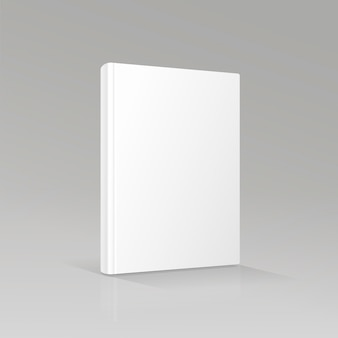 Blank empty book cover