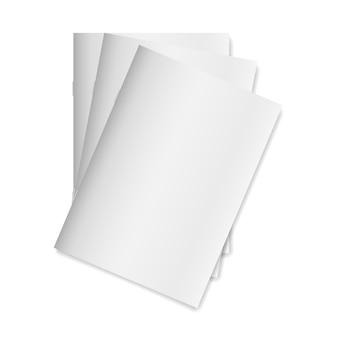 Blank empty magazine