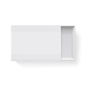 Blank empty white paper packaging matchbook isolated on white illustration. mockup container