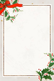 Blank festive rectangular christmas frame background