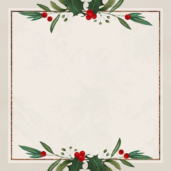 Blank festive square christmas background