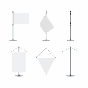 Blank flag and flag poles