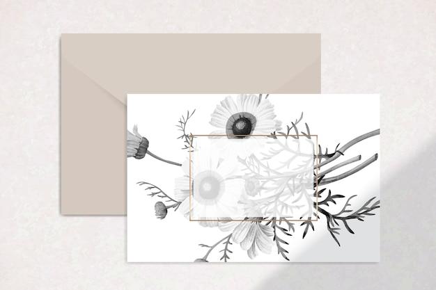 Cartolina floreale vuota