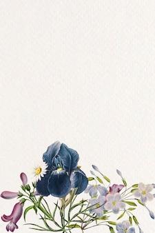 空白の花のフレームデザイン