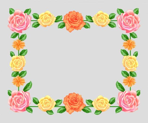 空白の花のフレーム
