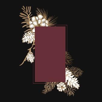 Blank floral invite