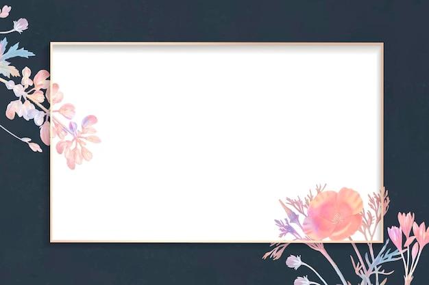 빈 꽃 사각형 프레임