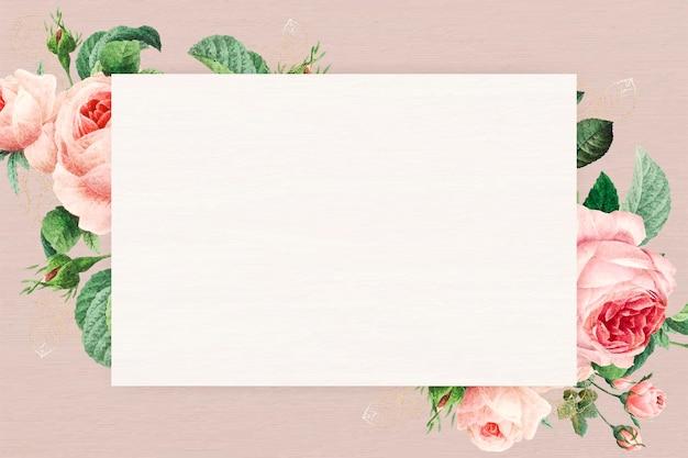 Пустая цветочная прямоугольная рамка