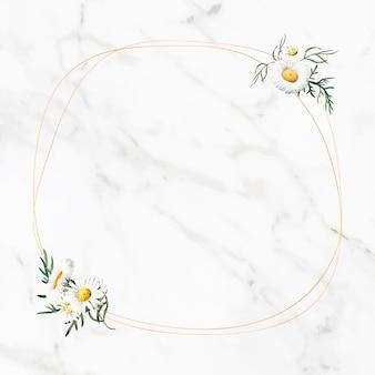 Cornice rotonda floreale vuota