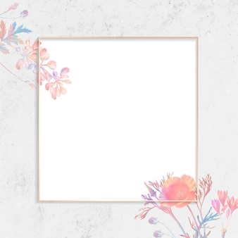 Cornice quadrata floreale vuota