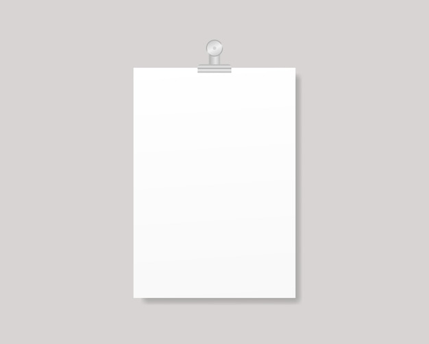 Blank flyer poster. empty a4 or a3 sized paper frame mockup. template design. realistic illustration.
