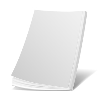 Blank flying white magazine cover, book, booklet, brochure template