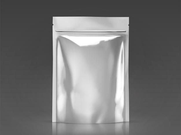 Blank foil bag , silver package for  uses in  illustration