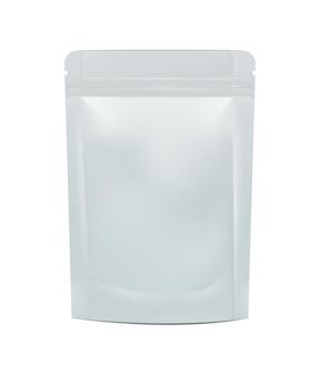 空白のホイル食品または飲み物doypackイラスト分離