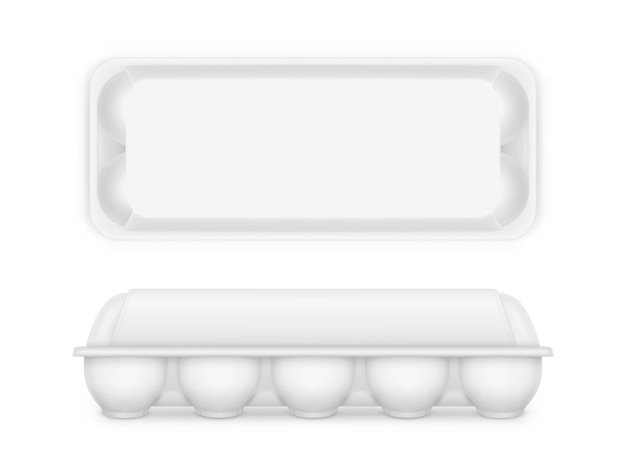 Blank food tray box container