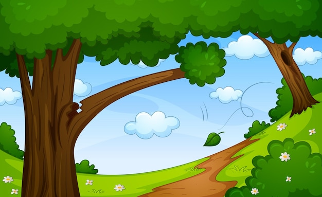 空白の森の自然シーン