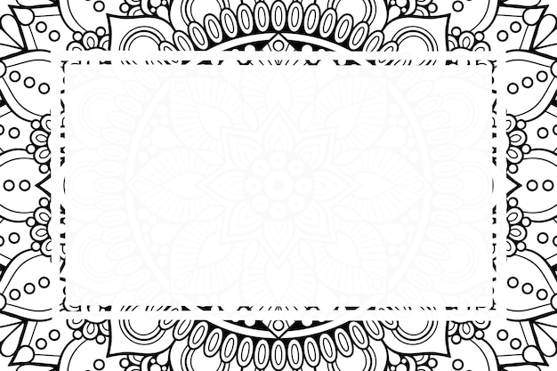 Blank frame background with tribal ethnic style