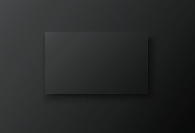 Blank frame on black