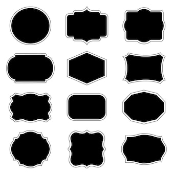 Blank frame and label mega vector