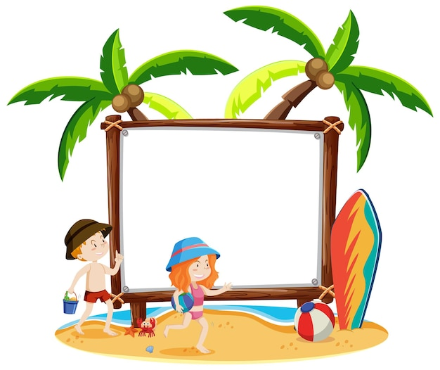 Blank frame with summer theme
