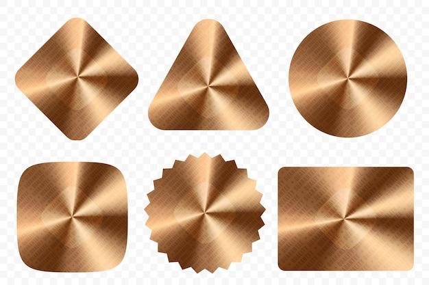 Blank gold metallic or bronze quality sticker