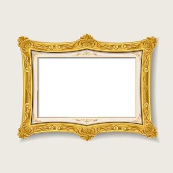Blank gold vintage picture frame