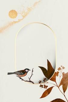 Blank golden floral frame