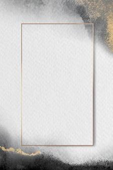 빈 황금 사각형 프레임 벡터