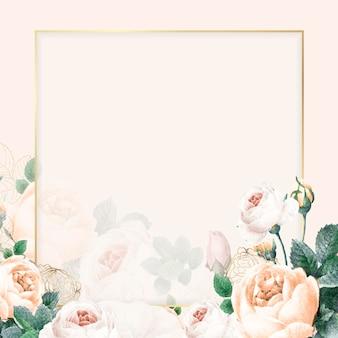 Blank golden square frame