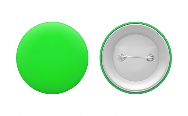 Blank green round pin