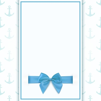 Blank greeting card template for baby boy shower celebration, birthday, or baby boy announcement card.